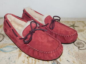 d453ea1d45d Details about NEW NWOB WOMENS SZ 10 REDWOOD UGG DAKOTA SUEDE SHEEPSKIN  MOCCASINS SLIPPERS