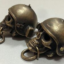 Keyring Skull in Helmet Altyn. Special Forces FSB of Russia!. Handmade. Brass.