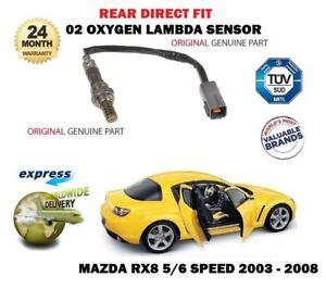 FOR Mazda RX8 1.3i 2003-2008 02 REAR DIRECT FIT OXYGEN LAMBDA SENSOR 5/6 SPEED