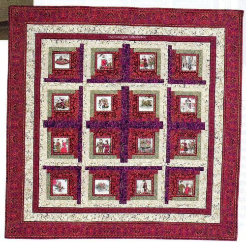 Polly/'s Poinsettias Quilt Pattern Pieced JB