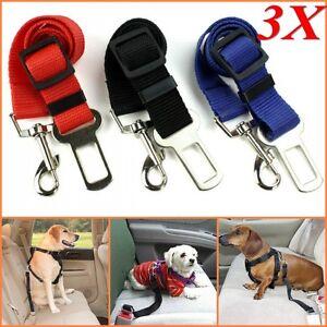 3X-Dog-Pet-Safety-Adjustable-Car-Seat-Belt-Harness-Leash-Travel-Clip-Strap-Lead