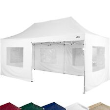 STILISTA Professionnel(le) Kiosque Pliant 3x6m IMPERMÉABLE ALU blanc Tente
