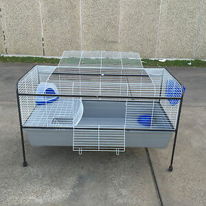 Xx large metal indoor rabbit guinea pig cage hutch stand for Guinea pig stand
