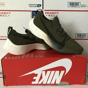 6fb1638c07f3 Nike Vapor Street Flyknit Olive Size 10.5 Sequoia Green Black React ...