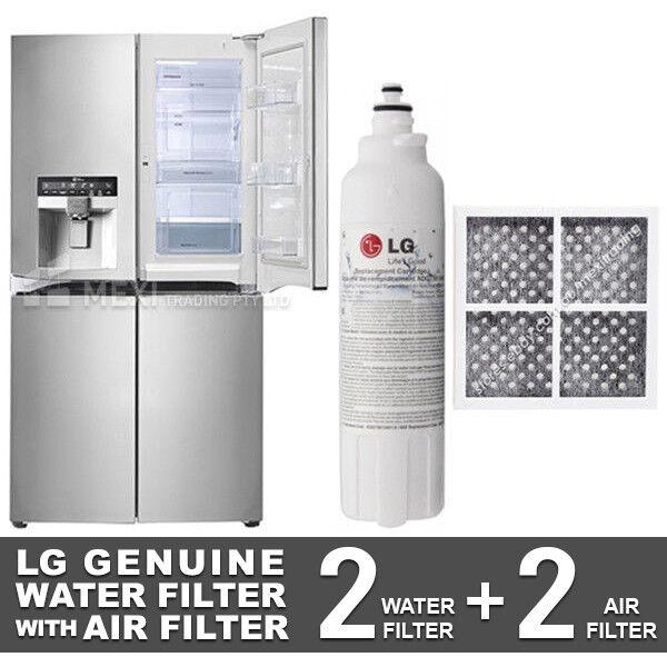 2X LG GENUINE FRIDGE FILTER FOR GF-5D712SL + 2X LG AIR FILTER LT120F