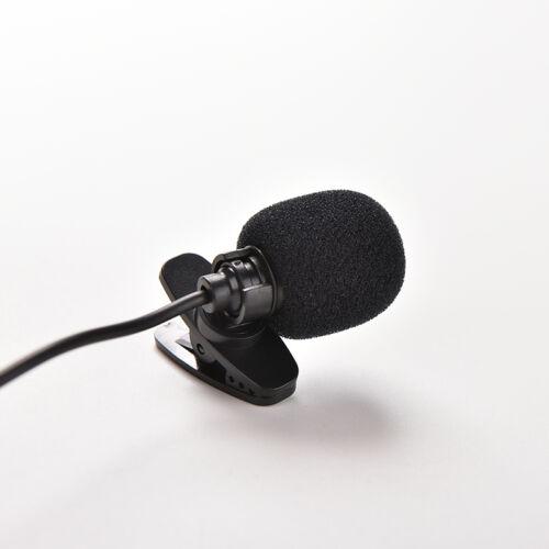 3.5mm Mini Studio Speech Microphone Mic Clips On Lapel for PC Desktop Notebo SP