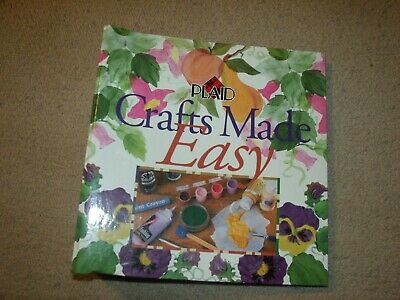 Oxmoor House Plaid Crafts Made Easy Binder W/ Instructions & Patterns Other Home Arts & Crafts