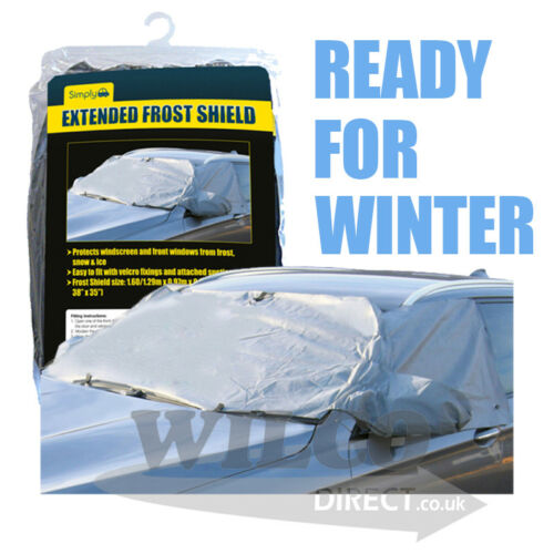 Large Extended Windscreen Side Window Cover Winter Frost Ice Snow Protector