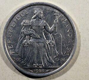 MONNAIE, New Caledonia, 2 Francs Pacific 1983 Aluminium AL04