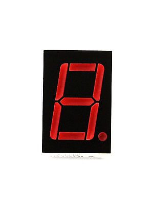 "100pc Single 0.56"" 7 Segment XDK 5161AHLA Hi-Light Red LED display CC"