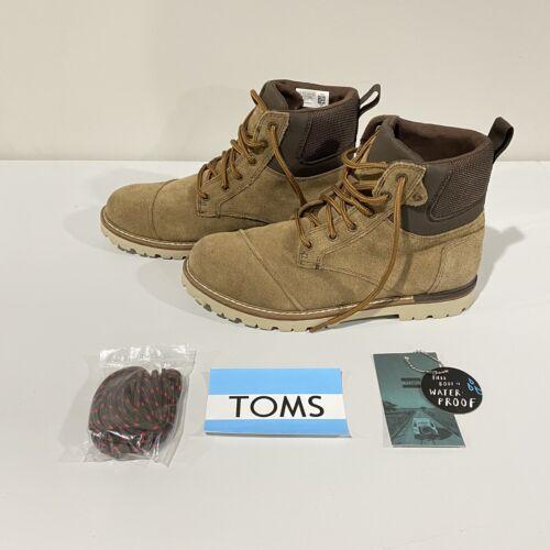 Toms Men's Size 10 Ashland Waterproof Brown Suede