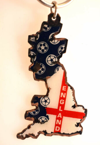 England St George Cross Country Map Flag Metal Keyring Football Team Wedding NEW