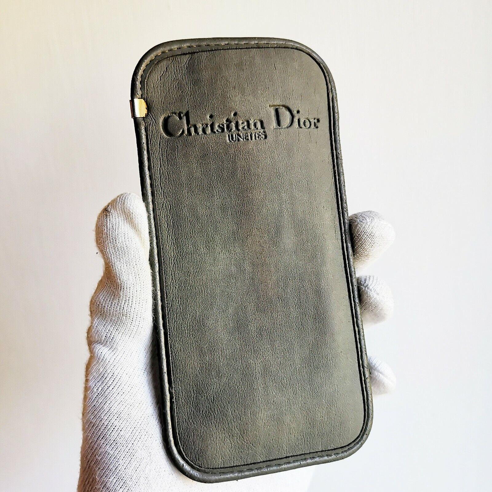 Scabbard Sunglasses Christian Dior Rhinestones Box Case Sunglasses Vintage Gray-show original title