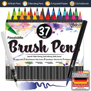 B-WARE-Pinselstifte-Set-24-Aquarell-Kalligraphie-Hand-Lettering-Bullet-Journal