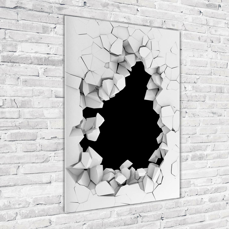 Wand-Bild Kunstdruck aus Acryl-Glas Hochformat 70x100 Loch in Wand