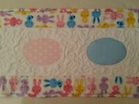 Quilted Easter Eggs Table Runner