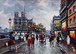 Notre-Dame-Paris-Painting-by-Antoine-Blanchard-Reproduction