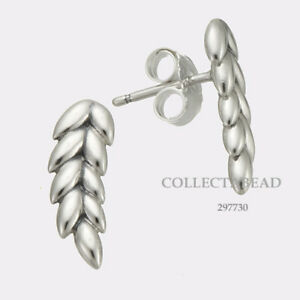 82473784d Image is loading Authentic-Pandora-Sterling-Silver-Curved-Grains-Stud- Earrings-