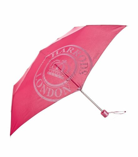 HARRODS BEAR LONDON  ST JAMES ROYAL SEAL DESIGN PINK UMBRELLA