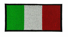 ITALIA BANDIERA TOPPA PATCH RICAMATA CM 6X4cm TOPPE PATCH STEMMA BORDADO