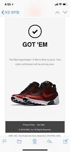 Nike HyperAdapt 1.0 'Habanero Red' Size 10 SNKRS APP CONFIRMED!