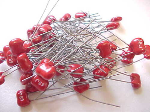 NOS 12 VALUES 60 COUNT LOT OF SILVER MICA CAPACITORS
