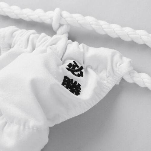 US Soft Cotton Men/'s Leather Briefs Underwear Panties Bulge Pouch Thong T-Back