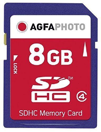 AGFA SDHC Memory Card Speicherkarte 8GB Class4 (10407) NEU (world*) 005-408°