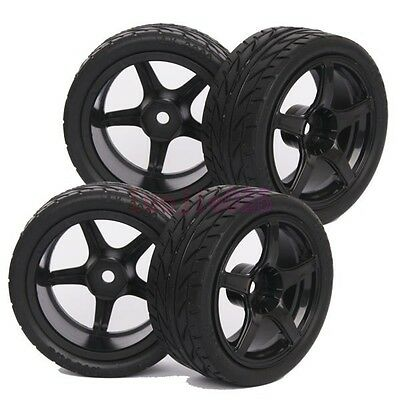 3mm Offset RC 1:10 On-Road Car Foam Rubber Tyres Tires& Wheel Rim 9077-8002