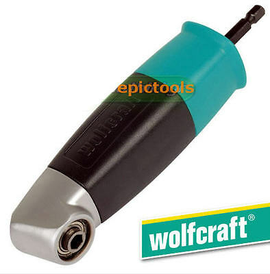 "WOLFCRAFT 1/4"" Hex Right Angle Drill Bit/Screwdriver Attachment Holder, 4688"