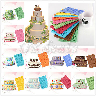 14 Kinds of Silicone Fondant Cake Embossing Gum Paste Decorating Baking Mould