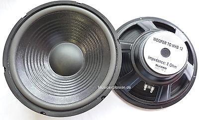 "2x MHB-12 30cm 12"" Bass Lautsprecher PA Hifi 300mm Tieftöner PAAR"
