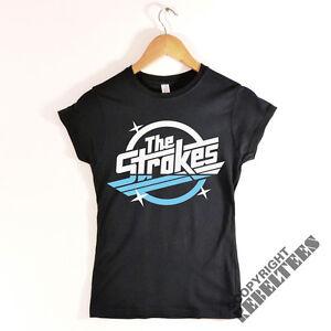 458b2cd1 Womens THE STROKES T-shirt RETRO album logo print - indie rock music ...