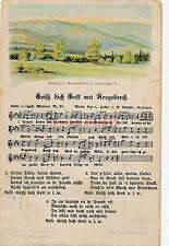 AK, Lied, Grüß Dich Gott mei Arzgeberch, A. Günther Nr. 24 (G)1692