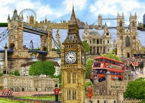 London-By-Kevin-Robinson-1000-Piece-Jigsaw-Puzzle