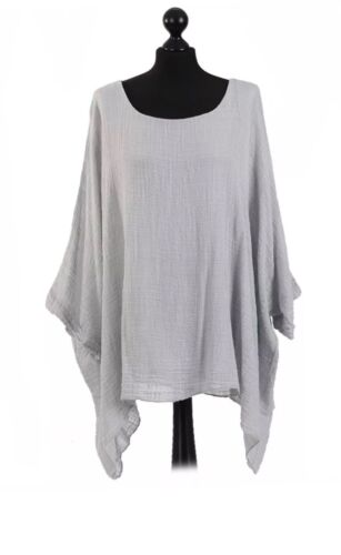 NEW LADIES BATWING LINED LAGENLOOK TOP PLUS SIZES12-22 MADE IN ITALY 100/% COTTON