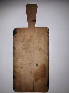 OLD-ANTIQUE-PRIMITIVE-WOODEN-WOOD-BREAD-CUTTING-BOARD-PLATE-8