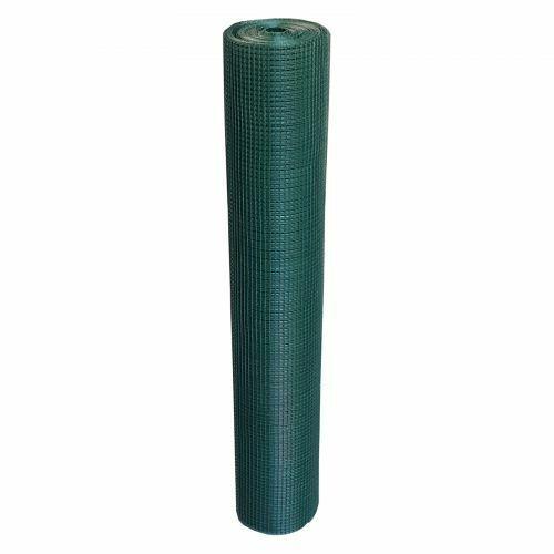Volierendraht Grün 25m 150cm 12x12mm Drahtgitter 4-Eck Maschendraht Zaun