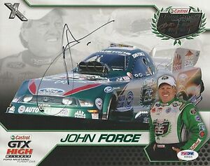 John Force Signed 2010 Castrol GTX Photocard - PSA/DNA # Y09325