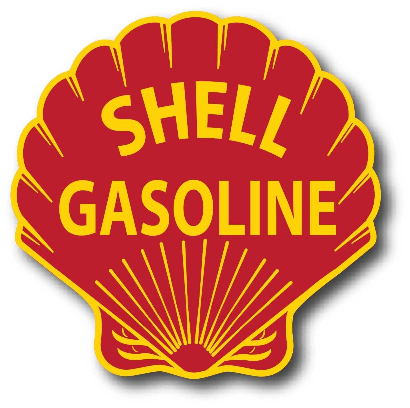 SHELL OIL GAS GASOLINE SUPER HIGH GLOSS OUTDOOR 12 INCH DECAL STICKER