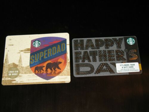 NEW Starbucks 2019 Fathers Day Standard /& Mini Gift Card Series 6166 Cards