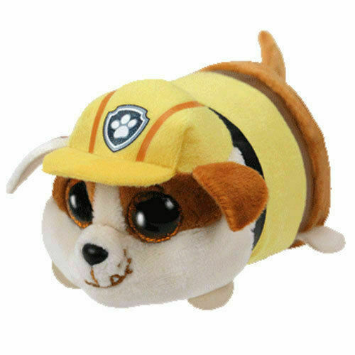 - MWMT Teeny Tys Stackable Plush RUBBLE 4 inch TY Beanie Boos Paw Patrol