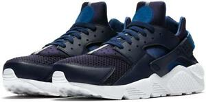official photos 3f00c 7ce37 Image is loading NIKE-AIR-HUARACHE-318429-420-OBSIDIAN-NAVY-BLUE-