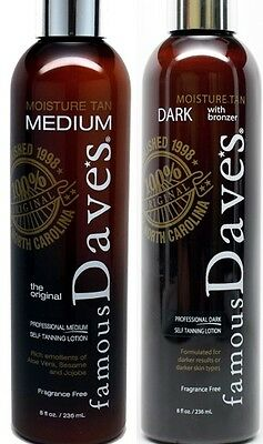 Famous Dave's Dark AND Moisture Tan < PROFESSIONAL SELF TANNER >