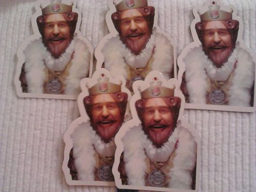 """5 Pack of Burger King /""""The King/"""" magnets DISCONTINUED Ships from USA! RARE"""