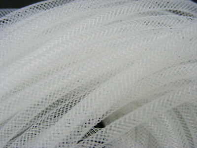 4mm SKINNY TUBULAR CRIN WHITE CYBERLOX DREADS 5 METRES GIFT WRAPPING