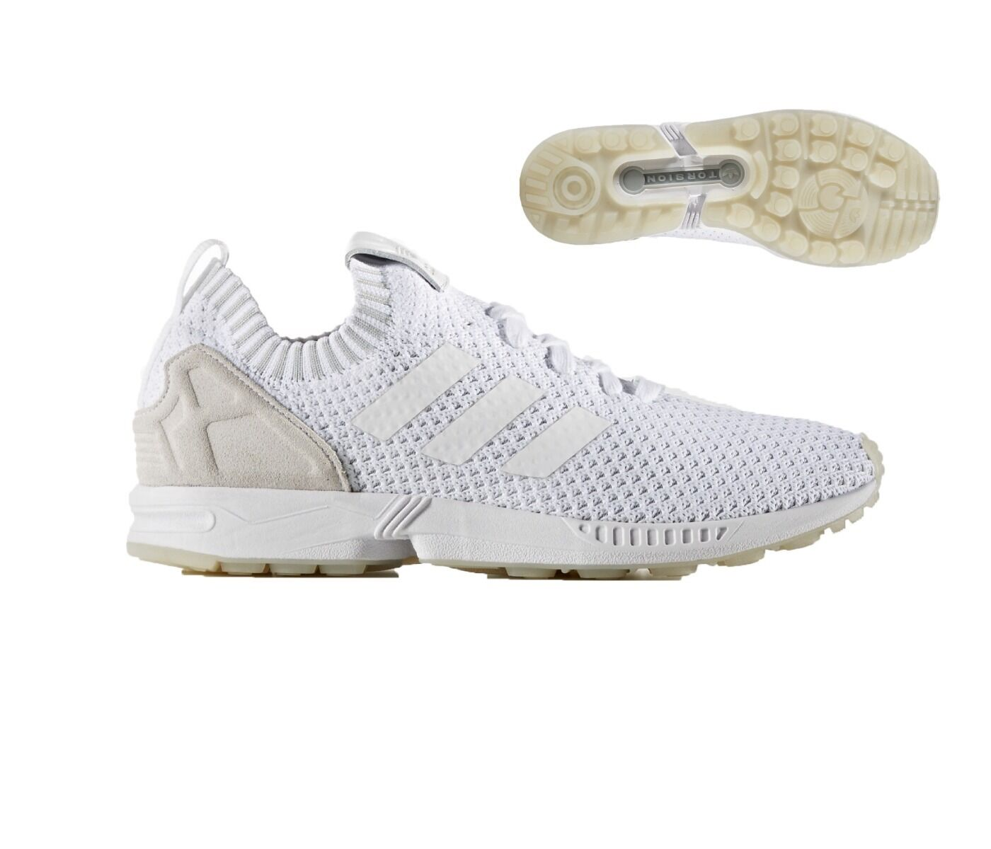 Adidas ZX FLUX Pack 7.511.5 Hombre Running Zapatillas número 7.511.5 Pack blanco NUEVO f1b92d