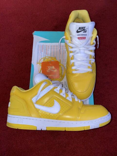 Nike SB AF2 Low Supreme Yellow White