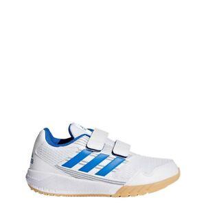 Details zu adidas Kinder AltaRun Hallenschuhe Sportschuhe Klettverschluss weißblau BA9419