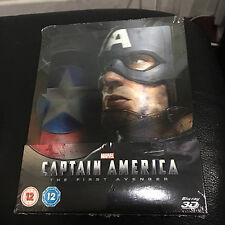 Captain America The First Avenger 3D Blu-ray Lenticular Steelbook | UK Zavvi NEW